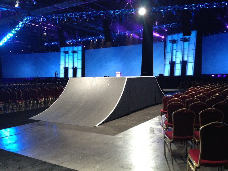 Hewlett Packard sales meeting, Corporate event BMX Pros Trick Team